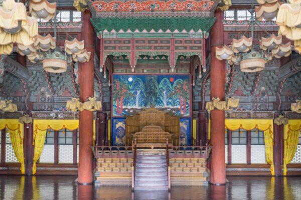 Visite d'un palais à Séoul