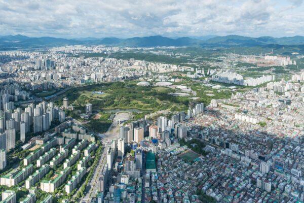 Vue sur Séoul depuis la Lotte Tower