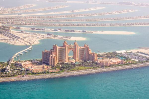Atlantis The Palm depuis un hélico