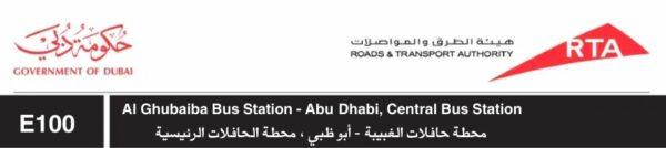 Dubai Abu Dhabi en bus