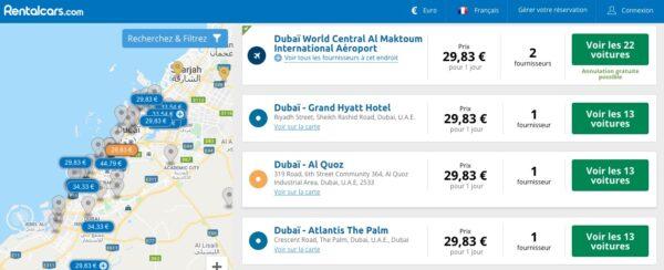Dubai Abu Dhabi en voiture