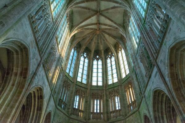 Intérieur de l'église abbatiale de l'abbaye du Mont Saint Michel