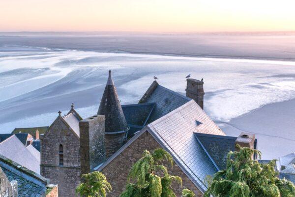 Sur les hauteurs du Mont Saint-Michel