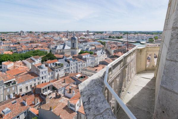 Vue depuis les tours de La Rochelle