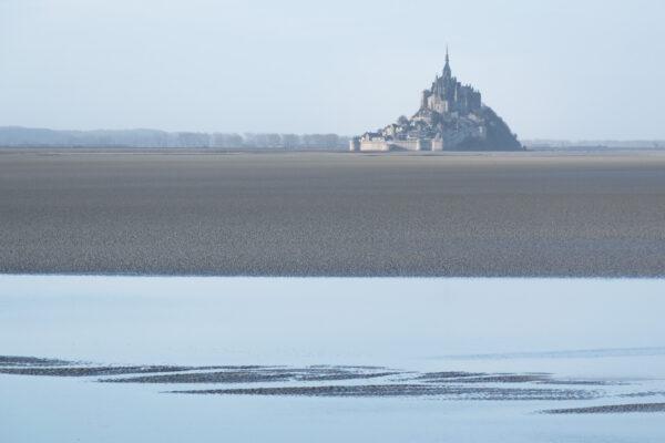 Vue sur le Mont Saint-Michel et sa baie