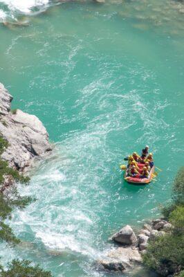 Activité à faire dans les gorges du Verdon : rafting