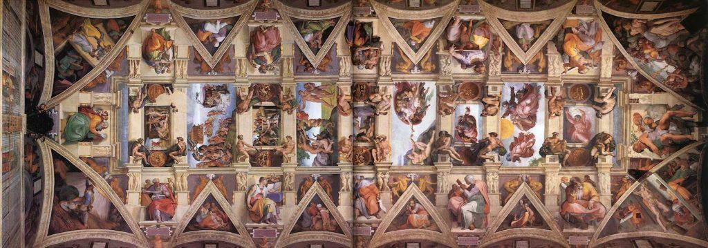 Fresque du plafond de la chapelle Sixtine