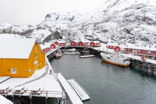 Port du village du Nusfjord