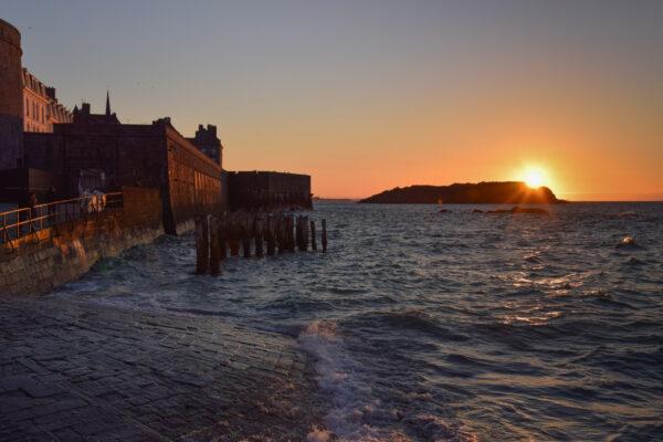 Coucher de soleil à Saint-Malo