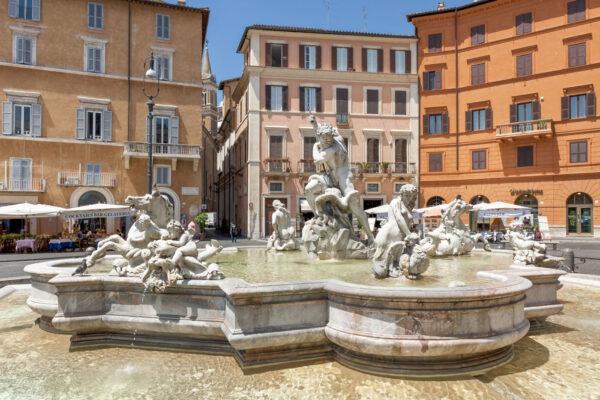 Fontaine sur la piazza Navona