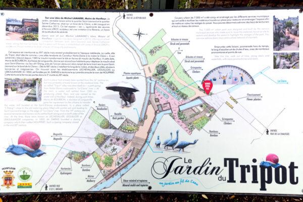 Plan du jardin du Tripot à Honfleur