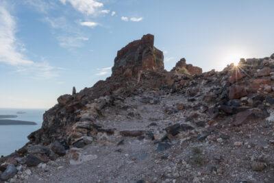 Randonnée à Santorin