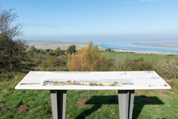 Point d'observation sur la baie de Somme et sur le cap Hornu