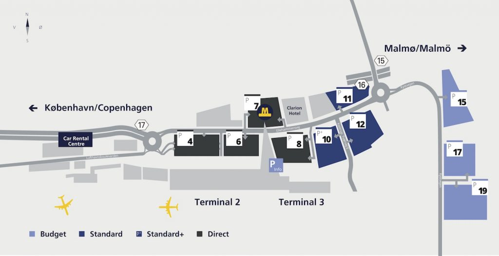 Plan de l'aéroport de Copenhague