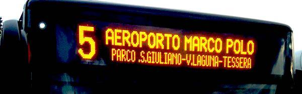 Navette en bus de l'aéroport de Venise