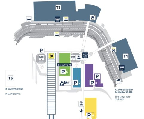 Plan du Leonardo Express à l'aéroport de Rome Fiumicino