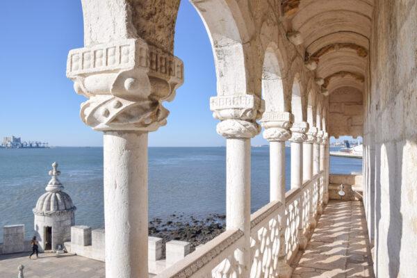 Loggia de la tour de Belém à Lisbonne