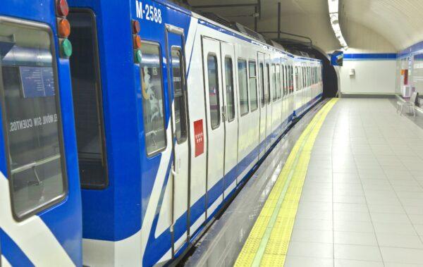 Métro de la ville de Madrid en Espagne
