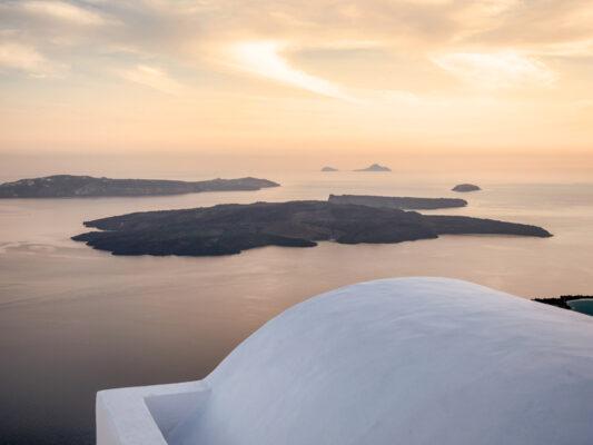 Neo Kameni au coeur de la caldeira de Santorini