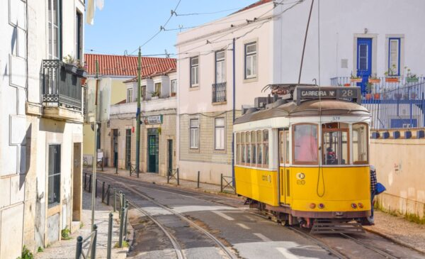 Tram 28 de Lisbonne