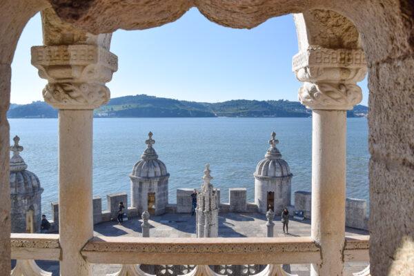 Vue depuis la loggia de la Torre de Belém