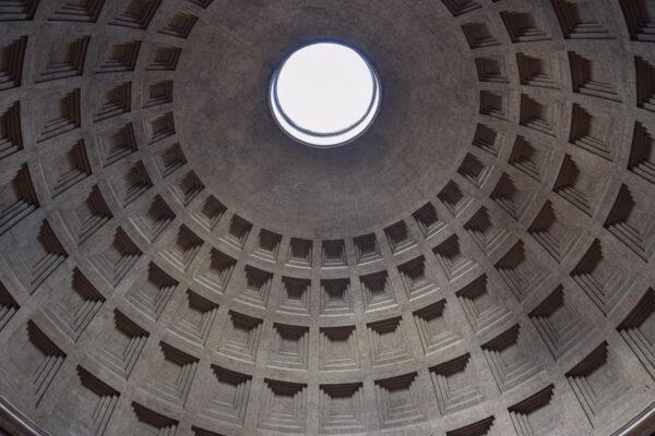 Coupole du Panthéon de Rome en Italie