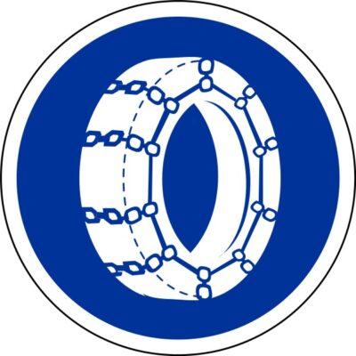 Panneau B26 : chaîne à neige