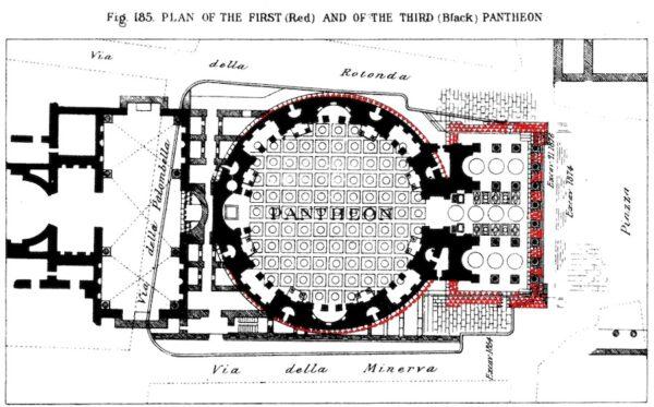 Plan du Panthéon de Rome