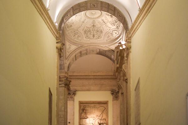 Salle d'un palais du musée du Capitole à Rome