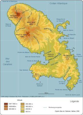 Altitude et climat en Martinique