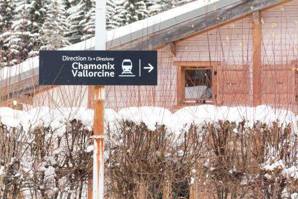 Train dans la vallée de Chamonix