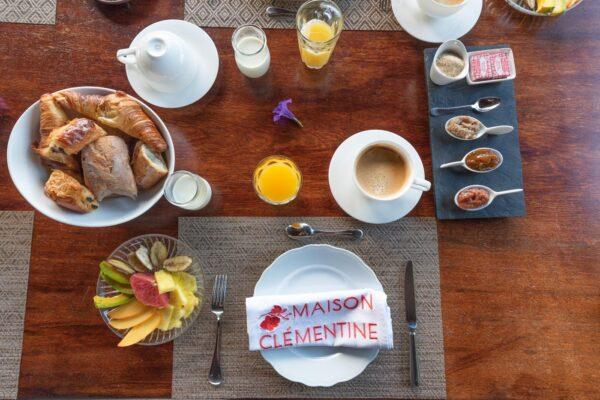 Petit déjeuner à la Maison Clémentine en Martinique