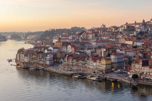 Coucher de soleil à Porto