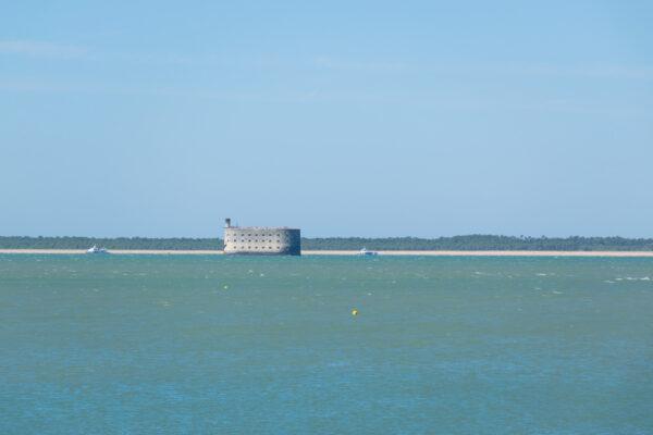 Vue sur le fort Boyard depuis l'île