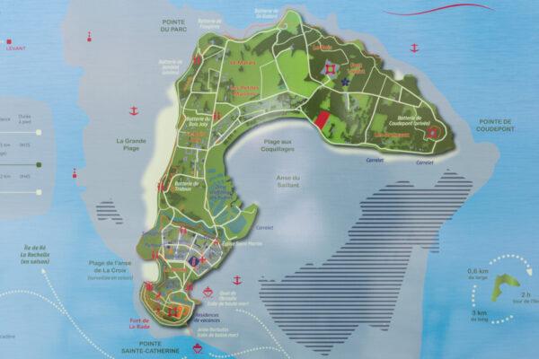 Carte de l'île d'Aix
