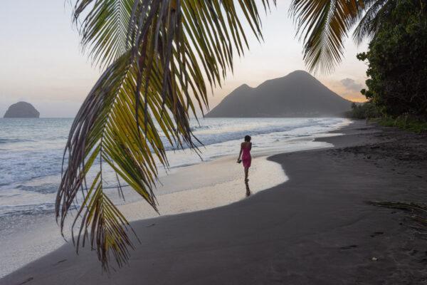 Plage paradisiaque du Diamant en Martinique