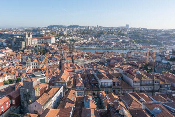 Vue sur Porto depuis la torre dos Clérigos