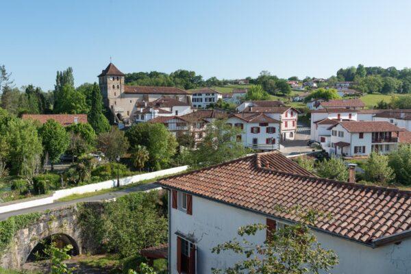 Panorama sur le village d'Espelette