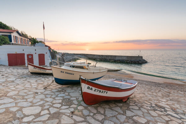 Port de Guéthary au coucher de soleil