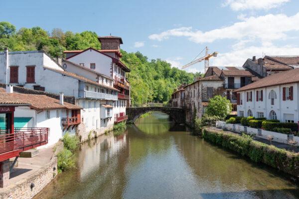 Saint-Jean-Pied-de-Port dans les Pyrénées-Atlantique