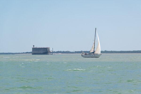 Sortie en bateau au large de fort Boyard