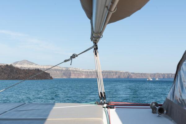 Sortie en mer à Santorin