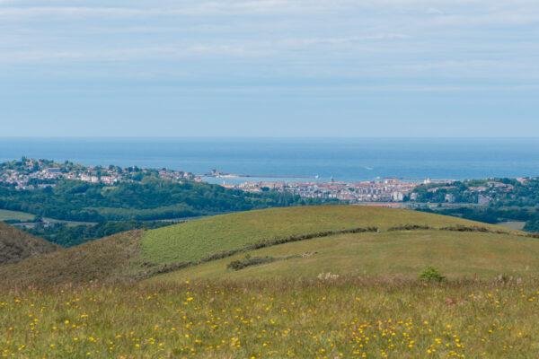 Vue sur la côte basque au cours de la rando quad