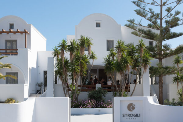 Hébergement près d'une plage de Santorin