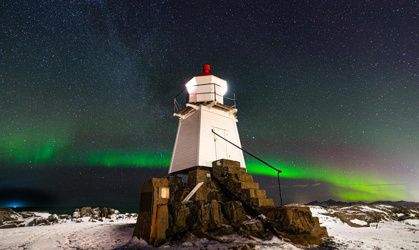 Aurore boréale aux îles Lofoten