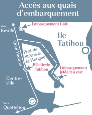 Plan pour le bateau vers Tatihou
