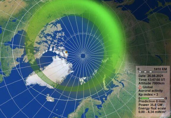 Kp, indice d'activité solaire pour les aurores boréales