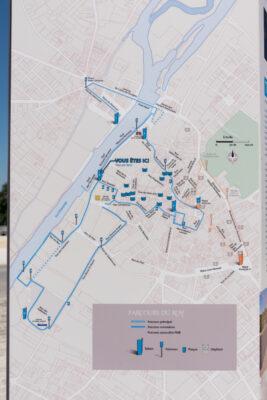 Plan du parcours du Roy pour visiter Cognac à pied
