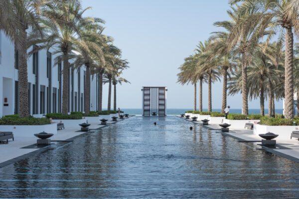 Piscine de l'hôtel The Chedi Muscat